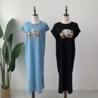 DR906018 MAXI COTTON T-SHIRT DRESS
