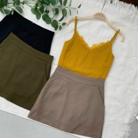 BT906028 PREMIUM BASIC HIGH WAIST A SKORT