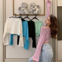 TP908009 KNIT CROP SWEATER TOP
