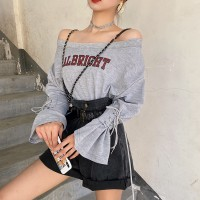 TP910023 ALBRIGHT OFFSHOULDER SWEATER TOP