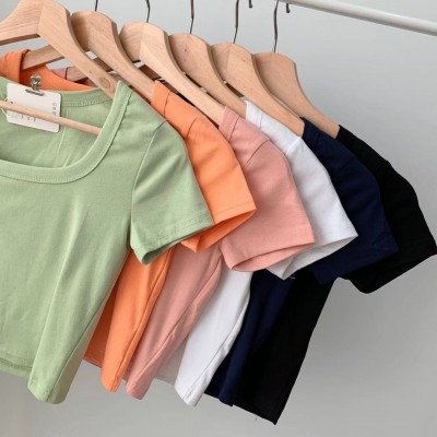 TP911010 BASIC U COLLAR COTTON TOP