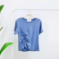 TP911031 SHINNY BLUE T-SHIRT