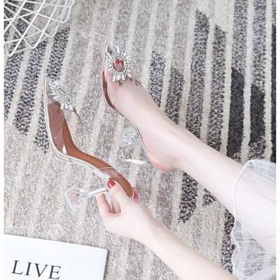 FW911066 女王鞋 TRANPARENT HEELS