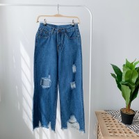 BT911069 RIPPED JEANS CULOTTES