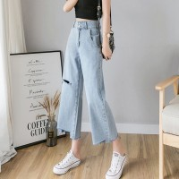 BT912038 RIPPED NINTH JEANS CULOTTES