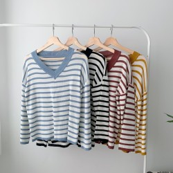 TP001013 LUCY STRIPE KNIT TOP