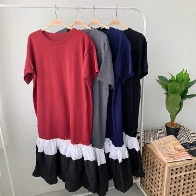 DR001022 EVIE KNITTED T-SHIRT DRESS