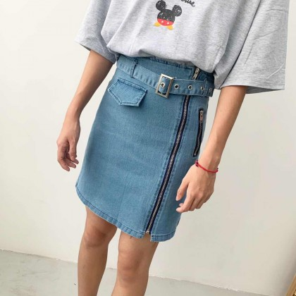 BT003005 DENIM SKIRT
