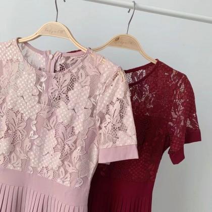 #春节 PREMIUM LACE DRESS JS10110