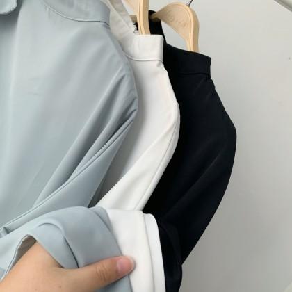 #BacktoOffice 高质感露肩雪纺衬衫上衣 TP103008