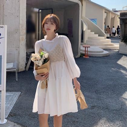 #欧妮小白裙 KOREAN WHITE DRESS 2PCS SET DR104006
