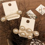 AS904012 CRYSTAL PEARL HAIRCLIP