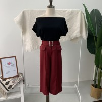 BT904029 HIGH WAIST 3/4 CULOTTES